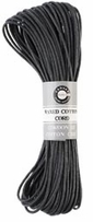 Waxed Cotton Cord Black