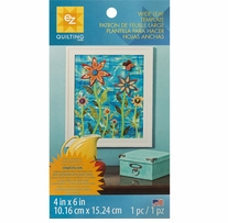 Wide Leaf Template 4inx6in 1/Pkg