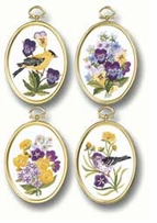 Wildflowers and Finches Embroidery Kit