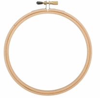 Wood Embroidery Hoop With Round Edges 4in