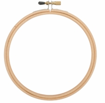 Wood Embroidery Hoop With Round Edges 6in