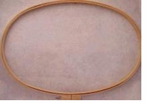 Wood Quilt Hoop 8inX15in Oval