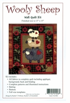 Wooly Sheep Wall Quilt Kit 13inX15in