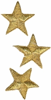 Wrights Iron-On Appliques Gold Metallic Stars - Click to enlarge