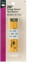Yardage Marked Tape Measure Yellow 288in