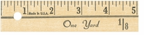 Yardstick 1/4in Thick