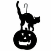 Cat/Pumpkin Silhouette HOS-28 Village Wrought Iron
