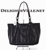Coach 16565 East West Gallery Leather Tote Bag Silver / Black