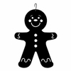 Gingerbread Boy Silhouette HOS-223 Village Wrought Iron