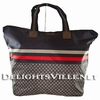 Gucci 268106 F951N Nylon Tote Handbag Large Red / Navy / Grey