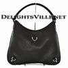 Gucci 268636 CAOUR Abbey D Ring Leather Hobo Handbag Black