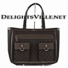 Gucci 268639 F5DIR Abbey Pocket Tote Handbag Dark Brown