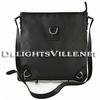 Gucci 268642 G1X9R Abbey GG Logo Nylon Messenger Handbag Black
