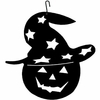 Pumpkin-Hat Silhouette HOS-233 Village Wrought Iron