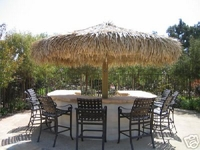 12ft Custom Made Thatch Palapa Umbrella Kit