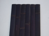 "25 Black Bamboo Flat Slats 1.75""x6ft"