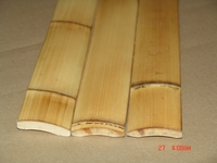 "25 Smoked Carbonized Bamboo Flat Slats 1.75""x8ft"