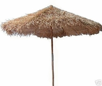 5ft Collaspible Bamboo Thatch Market Umbrella