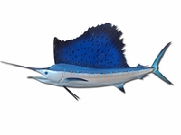 "71"" Atlantic Sailfish Half Mount Replica"