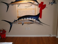 "90"" Blue Marlin Half Mount Fish Replica"