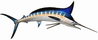 "90"" Striped Marlin Half Mount Fish Replica"