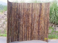 "TWO Bamboo Fence Natural Black <p>1""x 8' x 8'"