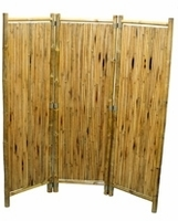Bamboo Pole Divider Screen 3 Panel