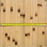 Bamboo Wainscoting Wallpaper Natural Burnt  4'x8'