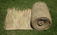 "FIRE RETARDANT<br>36""x 10ft Commercial Grade Tiki Thatch Roll</p>"