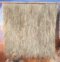 "FIRE RETARDANT<br>48"" x 48"" Palm Grass Tiki Thatch (6) Panels"