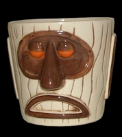 Modern Primitive Tiki Mug/Mai Tai Bucket - Orange Eyes BA806OR