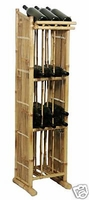 Tall Wine Bottle Rack Bamboo Display