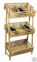 Wine Display Beverage Rack Bamboo Shelving