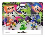 Nintend Amiibo Splatoon 3 Pack (Inkling Boy, Inkling Girl, Squid)