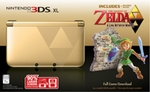 Nintendo 3DS XL Gold and Black Legend of Zelda Special Edition + A Link Between Worlds