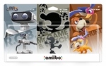 Nintendo Amiibo: Retro 3 Pack (R.O.B., Mr. Game & Watch, Duck Hunt) (Super Smash Bros.)