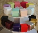 "2"" Colored Square Boxes with Lid - Set of 10"