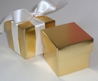 "2"" Gold Square Boxes with Lid"