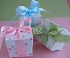 "2"" Polka Dot Box with Coordinating Ribbon"