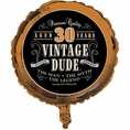 30th Vintage Dude Balloon
