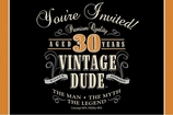 Vintage Dude Invitation 30