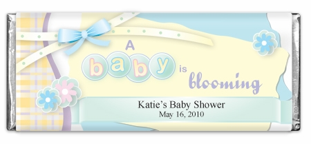 A Baby Is Blooming Scrap Book Chocolate Bar