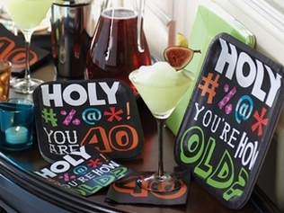 Adult birthday party decorations for men and women of all ages! Throw a grown up birthday party with these fun themes, including the Celebrate in Style party decorations shown here.