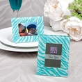 Aqua Blue Zebra Pattern Picture Frame Favors