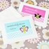 Examples of our Baby Animal Tissue Pack Favors including a variety of animal designs and color option swatches.