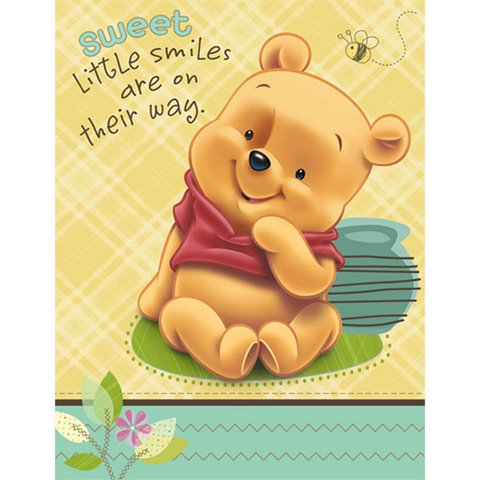 Baby Pooh & Friends Invitations Fill-in