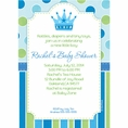 Baby Prince Baby Shower Custom Invitation