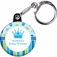 Baby Prince Baby Shower Custom Keychain