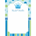 Baby Prince Baby Shower Custom Thank You Note