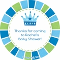 Baby Prince Baby Shower Custom Stickers